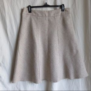 Merona Cream/White Wool Blend A-Line Skirt