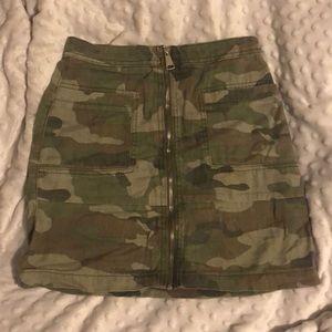 Top shop camo skirt