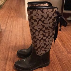Coach Rain Boots. Size 6
