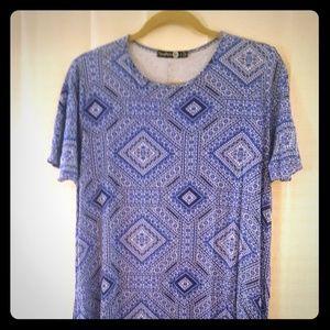 Blue Boohoo Bandana T-shirt Dress