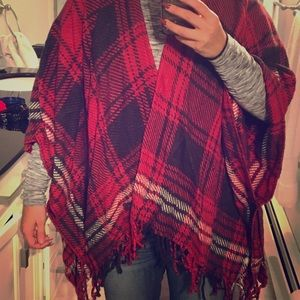 Abercrombie & Fitch poncho winter sweater wrap