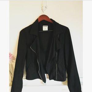 Black moto jacket