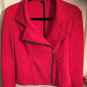 Express Red Moto Jacket