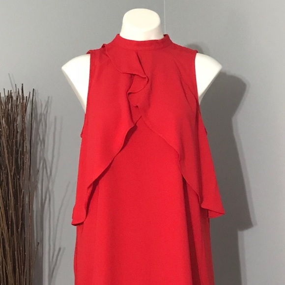 50% off Apt. 9 Dresses & Skirts - NWT Apt 9 Red Flowing High Neck ...