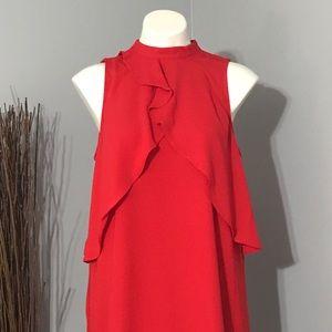 NWT Apt 9 Red Flowing High Neck Sleeveless Dress