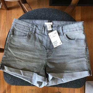 NWT H&M Grey Denim Shorts
