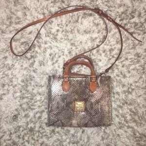 Dooney and Bourke snake skin leather mini satchel