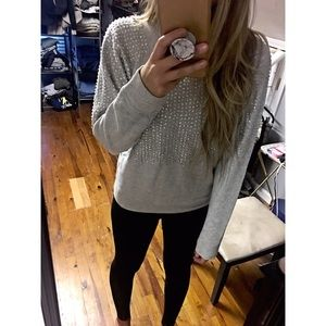 ZARA Beaded Sweatshirt