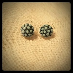 Bead encrusted stud earrings