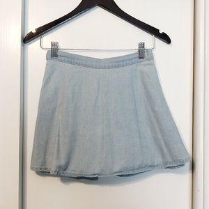 Dresses & Skirts - Light Blue Denim Circle Skirt