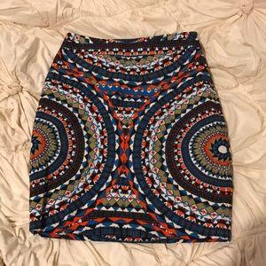 Anthropologie NWT Tabitha patterned skirt