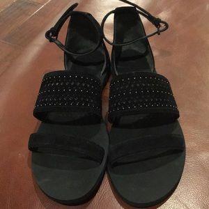 Via spiga black laser cut  sandals