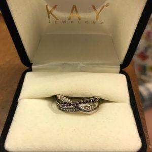 Diamond Ring 1/5 ct tw Round Cut 10k White Gold