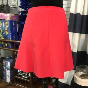J. Crew Pink Fitted Flare Skirt