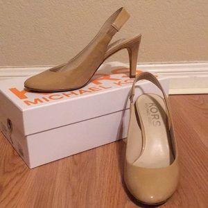 Michael Kors nude sling back heels