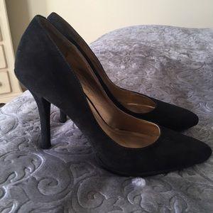 {BCBG} black suede pumps