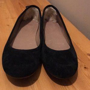 UGG Black Suede Flats Size 8