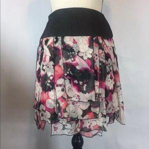 DVF Silk Tiered Skirt