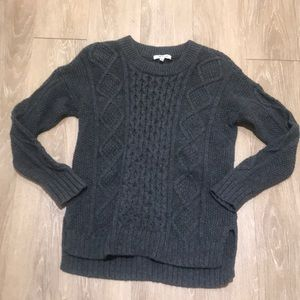 Madewell Cable Knit Crew Neck Sweater