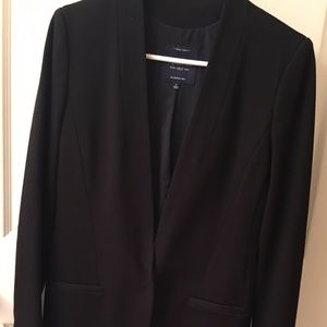 "Madewell…Long black ""power"" jacket"