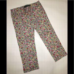 Mini Boden floral pants capris SIZE 9