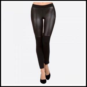 Pants - Black Liquid Faux Leather Leggings