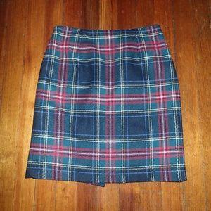 Talbots Wool Steward Plaid Skirt (6P)