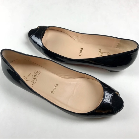 designer fashion 63759 c8345 Christian Louboutin Peep-toe Flats