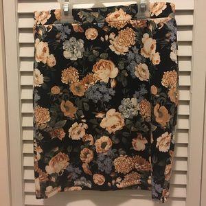 Forever21 floral mini skirt