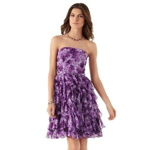 {white house black market} spring cascade dress