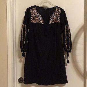 Madewell embroidered long sleeve dress