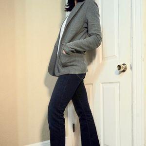 Standard James Perse Gray Shawl Collar Blazer