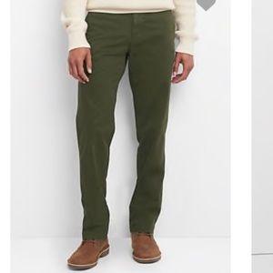 Gap Men's Straight Leg Lived In Cotton Pants