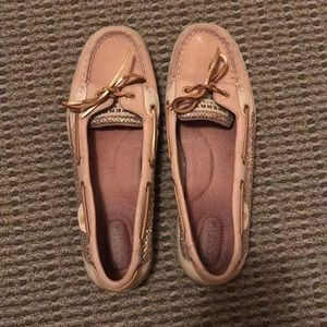 Sperry Top-Sider Angelfish Gold Glitter Boat Shoes