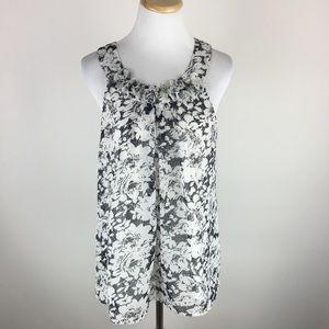 Adiva floral sleeveless top Sz Large