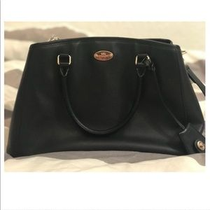 Black Margot Carryall Coach purse