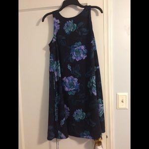 Loft floral trapeze dress