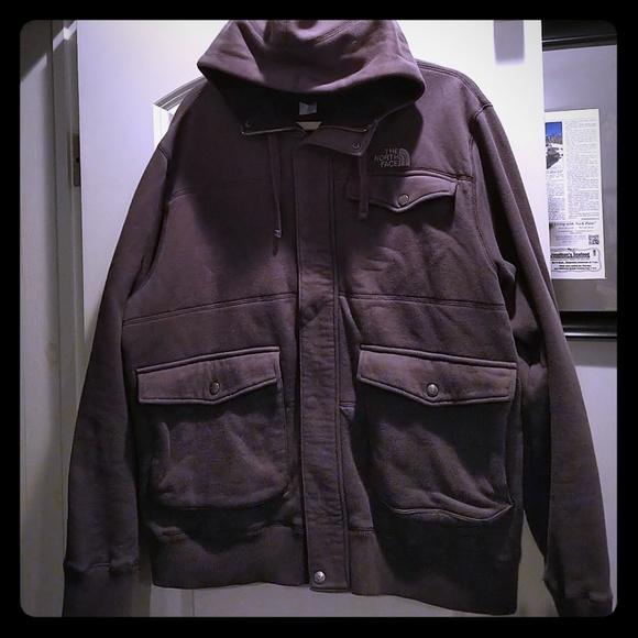 921c3076d Mens North Face zip snap hoodie XL built in mask