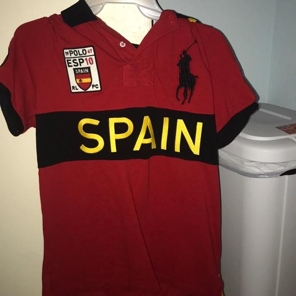 9a7b4ea9302 reduced mens medium polo ralph lauren spain shirt 0ec18 652f0