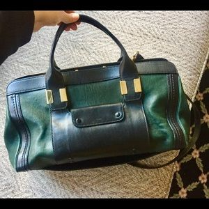 Beautiful Chloé 'Alice' Green/Black Crossbody Bag!