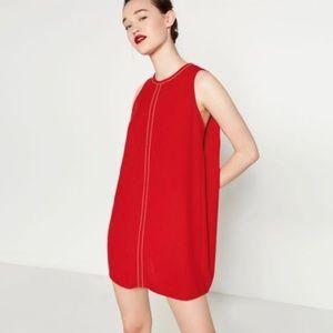 Zara Red Flowy Dress