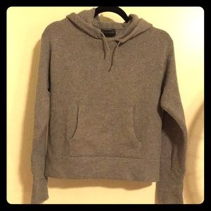 Banana Republic grey cashmere pullover hoodie