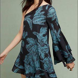 NWT C/MEO Collective Adita One Shoulder Dress XL
