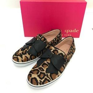 Kate Spade Delise Leopard Print Bow Slip On