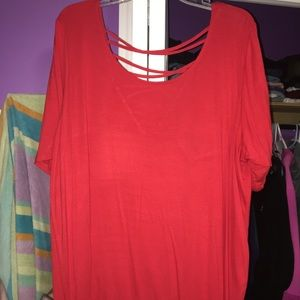 torrid red top with cut out back size 3
