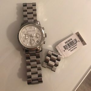 Michael Kors Silver Toned Watch