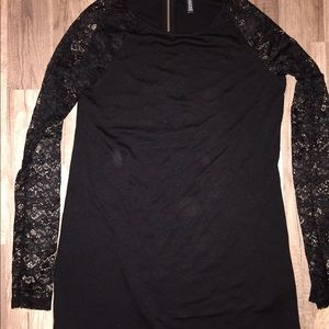 Gently used H and M dress with lace sleeves