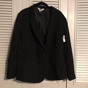 Women's Black, Ponte-Knit Blazer, XL and XXL