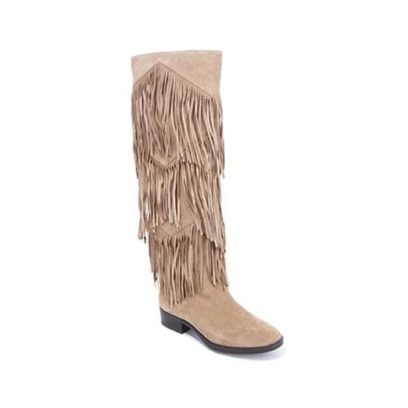 6dd6e677f Sam Edelman Shoes - Sam Edelman tall fringe cowboy style suede boot