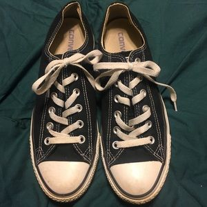 All Star Converse Black Shoes W9 M7